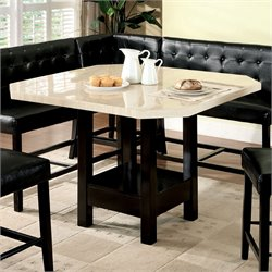 Furniture of America Carribean Pub Height Dining Table in Black