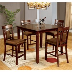 Furniture of America Benny 5 Piece Counter Height Dining Set