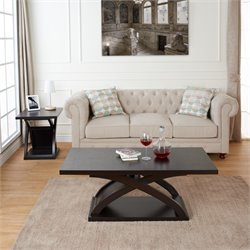 Furniture of America Porthos 2 Piece Coffee Table Set in Espresso