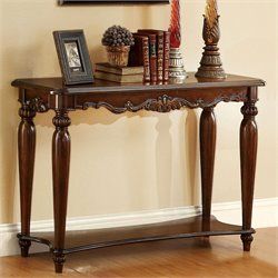 Furniture of America Garner Console Table in Cherry