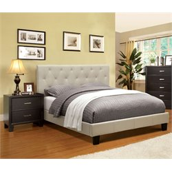 Warscher 2 Piece Bedroom Set in Ivory