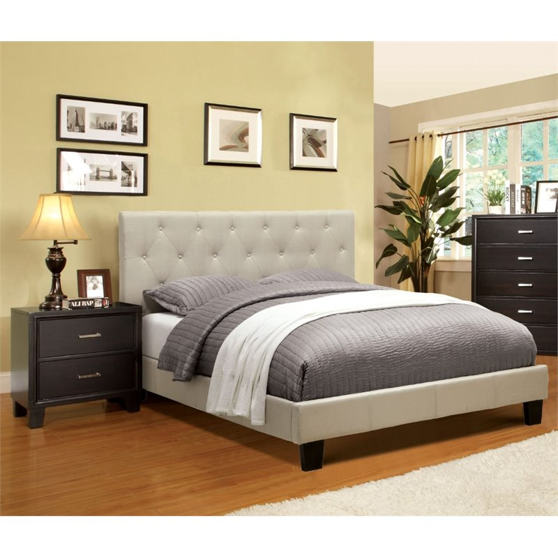 Furniture of America Warscher 2 Piece Upholstered Twin Bedroom Set