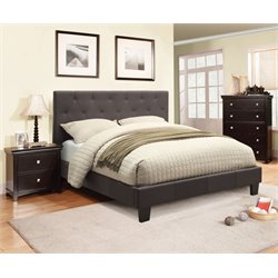 Furniture of America Warscher 3 Piece Upholstered California King Bedroom Set