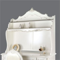 Furniture of America Rollison Hand-Brushed Hutch in Pearl White