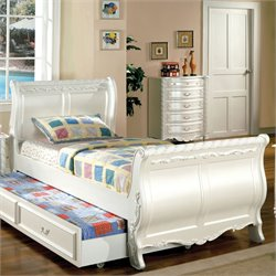 Rollison Bed in Pearl White