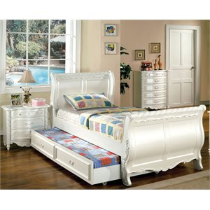 Rollison 2 Piece Bedroom Set in Pearl White
