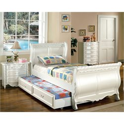 Furniture of America Rollison 3 Piece Twin Sleigh Bedroom Set