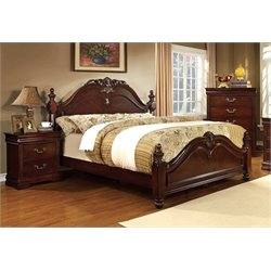 Noren 3 Piece Bedroom Set in Cherry