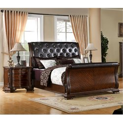 Hulga 2 Piece Bedroom Set in Brown Cherry