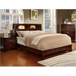 Jenners 3 Piece Bedroom Set in Brown cherry