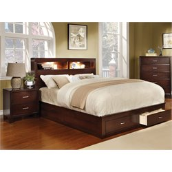 Louis 2 Piece Bedroom Set in Brown cherry