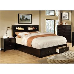 Furniture of America Louis 3 Piece Bookcase California King  Bedroom Set