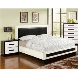 Retticker 2 Piece Bedroom Set in White and black