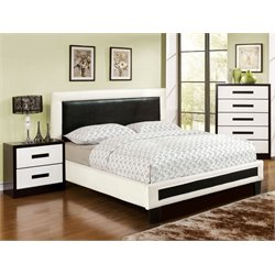 Retticker 3 Piece Bedroom Set in White and black