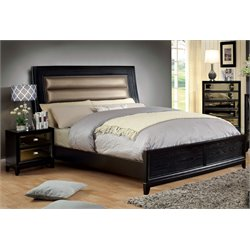 Bettyann 2 Piece Bedroom Set in Gold and Black