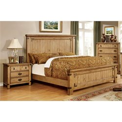 Sesco 3 Piece Bedroom Set in Weathered Elm