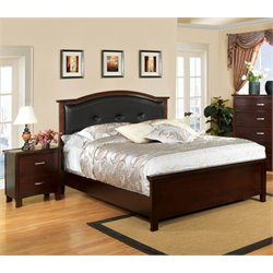 Pruden 2 Piece Bedroom Set in Brown cherry