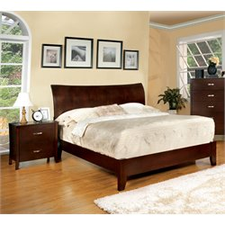 Ownby 2 Piece Bedroom Set in Brown cherry
