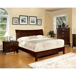 Ownby 3 Piece Bedroom Set in Brown cherry
