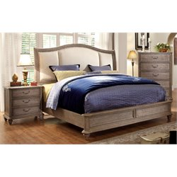 Bartrand 3 Piece Bedroom Set in Rustic Natural Tone 7612