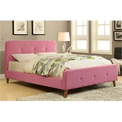 Furniture of America Tullah Full Platform Bed in Pink