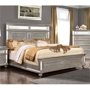Furniture Of America Farrah California King Mirrored Bed In Silver