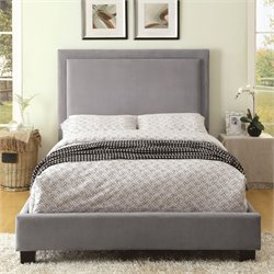 Furniture of America Luna California King LED Bed in Gray