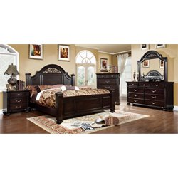 Furniture of America Damos 4 Piece California King Bedroom Set