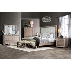 Eckel 4 Piece Bedroom Set in Silver