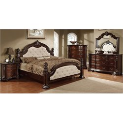 Furniture of America Cathey 4 Piece Queen Bedroom Set