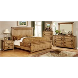 Sesco 4 Piece Bedroom Set in Weathered Elm