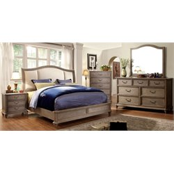 Bartrand 4 Piece Bedroom Set in Rustic Natural Tone 7612