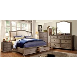 Bartrand 4 Piece Bedroom Set in Rustic Natural Tone 7614