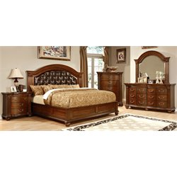 Sorella 4 Piece Bedroom Set in Cherry 7735