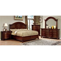 Sorella 4 Piece Bedroom Set in Cherry 7736