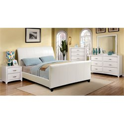 Colvin 4 Piece Bedroom Set in White