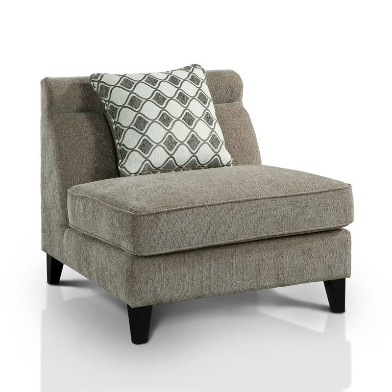 Luxury Armless Accent Chair Minimalist