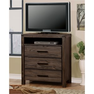 Furniture of America Bahlmer Media Chest in Dark Gray