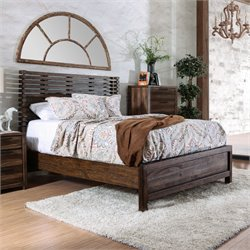 Furniture of America Bickson Queen Bed in Natural Rustic Tone