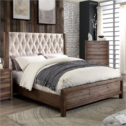 Olivia Bed in Natural Rustic Tone