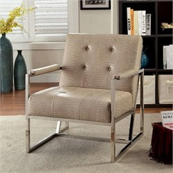Bindy Ostrich Leatherette Accent Chair