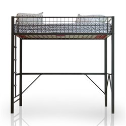 Furniture of America Racer Car Loft Bed in Gunmetal