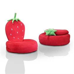Furniture of America Strawberry Foldable Kids Chair in Red