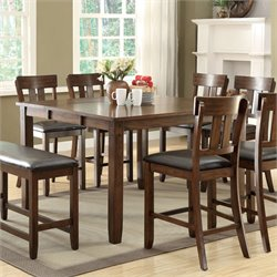 Furniture of America Buffy Counter Height Dining Table in Rustic Oak
