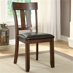 Furniture of America Edris Side Chair in Rustic Oak (Set of 2)