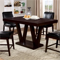 Furniture of America Otis Counter Height Dining Table in Espresso