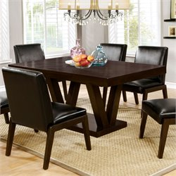 Furniture of America Lorean Dining Table in Espresso