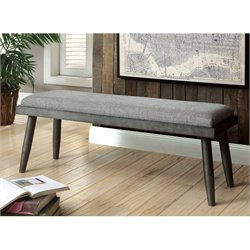 Furniture of America Janell Kitchen Bench in Gray