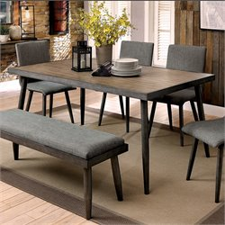 Furniture of America Janell Dining Table in Gray