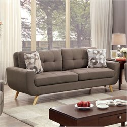 Furniture of America Tamatha Sofa in Mocha